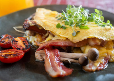 Breakfast Omelette and bacon