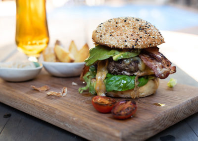 Cheese & Bacon Burger lunch